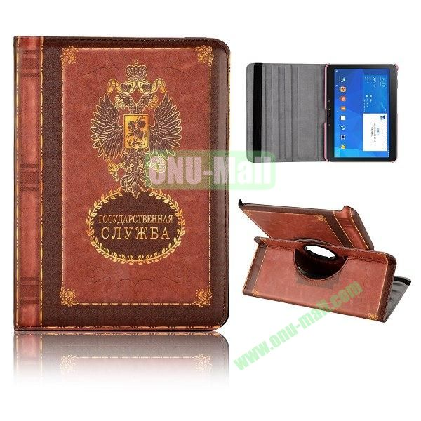 360 Degree Rotatable Leather Case for Samsung Galaxy Tab 4 10.1 T530 (Russian coat of Arms Notebppk Pattern)