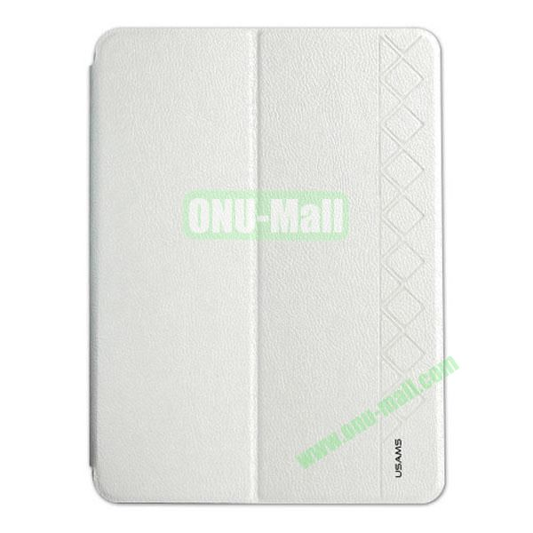 USAMS Starry Sky Series Leather Case for Samsung Galaxy Tab 4 10.1  T530 (White)
