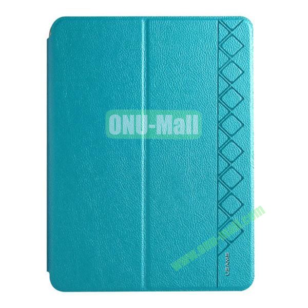 USAMS Starry Sky Series Leather Case for Samsung Galaxy Tab 4 10.1  T530 (Cyan)