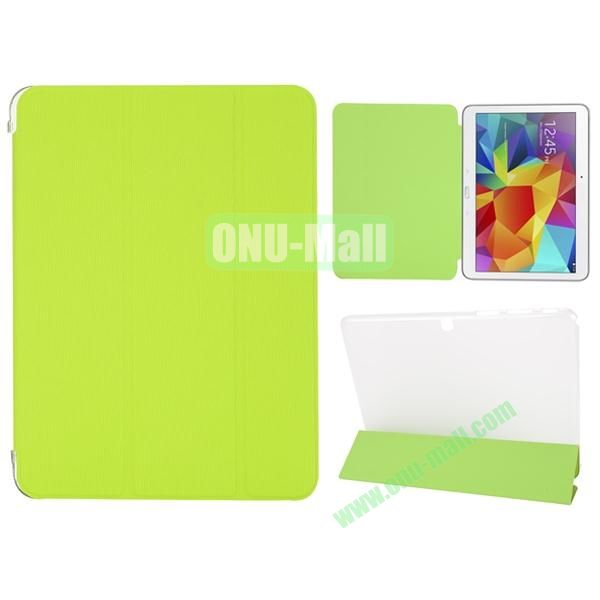 3-Folding PU Leather Case for Samsung Galaxy Tab 4 10.1  T530 (Green)