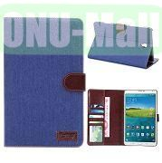 Jeans Cloth Wallet Design PU Leather Case for Samsung Galaxy Tab S 8.4 T700 (Blue)