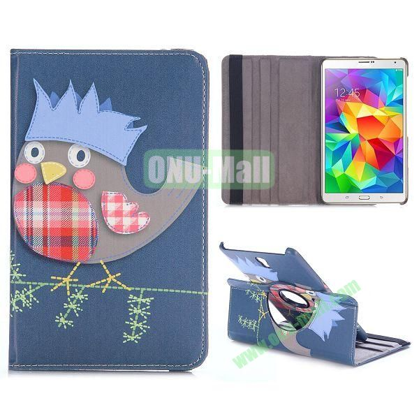360 Rotating Style Flip Leather Case for Samsung Galaxy Tab S 8.4 T700 with Belt (Cute Chicken Cartoon)