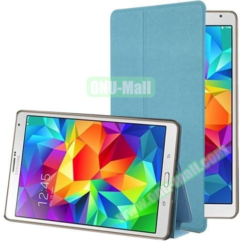 Frosted Texture Flip Leather Case for Samsung Galaxy Tab S 8.4 with Stand (Blue)