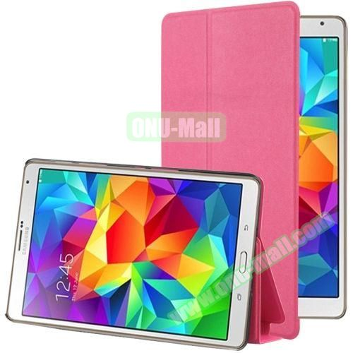 Frosted Texture Flip Leather Case for Samsung Galaxy Tab S 8.4 with Stand (Rose)