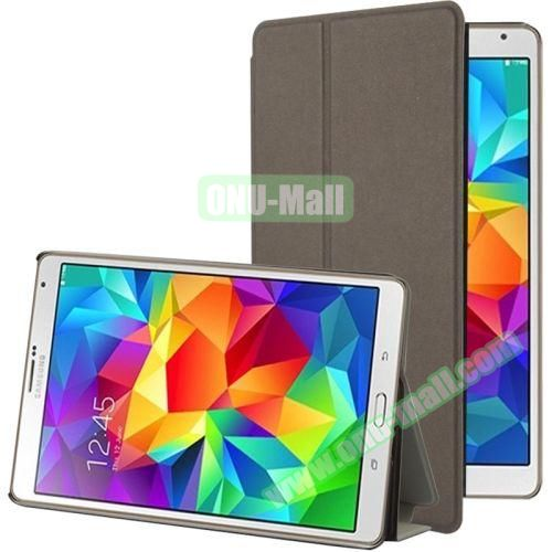Frosted Texture Flip Leather Case for Samsung Galaxy Tab S 8.4 with Stand (Brown)