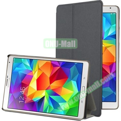 Frosted Texture Flip Leather Case for Samsung Galaxy Tab S 8.4 with Stand (Grey)