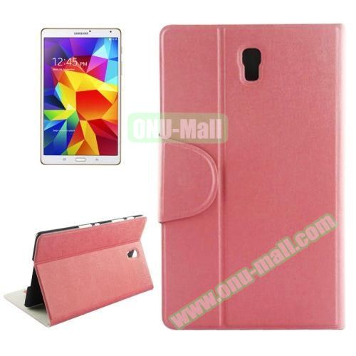 Oracle Texture Horizontal Flip Leather Case for Samsung Galaxy Tab S 8.4 (Pink)