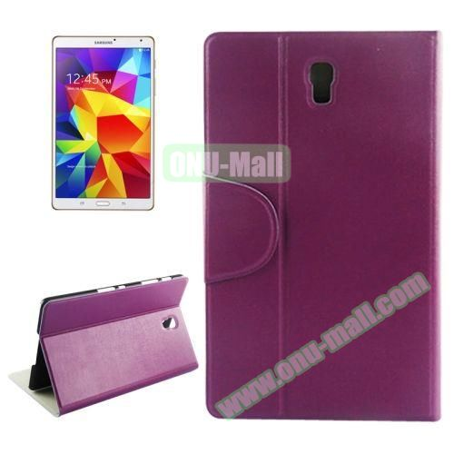 Oracle Texture Horizontal Flip Leather Case for Samsung Galaxy Tab S 8.4 (Purple)