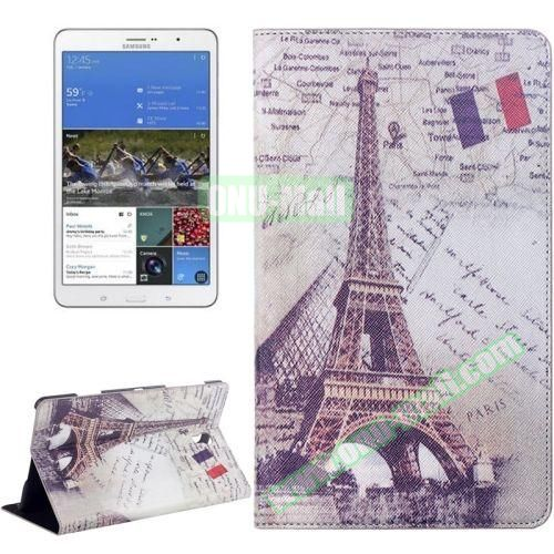 Eiffel Tower Pattern Flip Leather Case for Samsung Galaxy Tab S 8.4 T700 with Holder