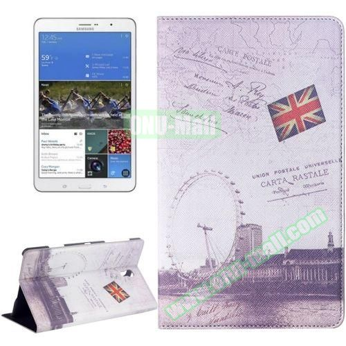 London Ferris Wheel Pattern Flip Leather Case for Samsung Galaxy Tab S 8.4 T700 with Holder