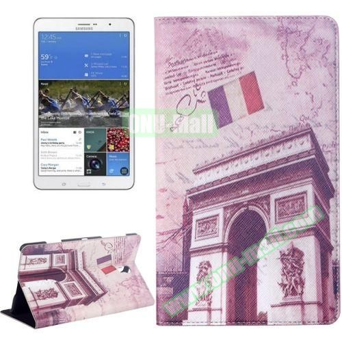 Triumphal Arch Pattern Flip Leather Case for Samsung Galaxy Tab S 8.4 T700 with Holder