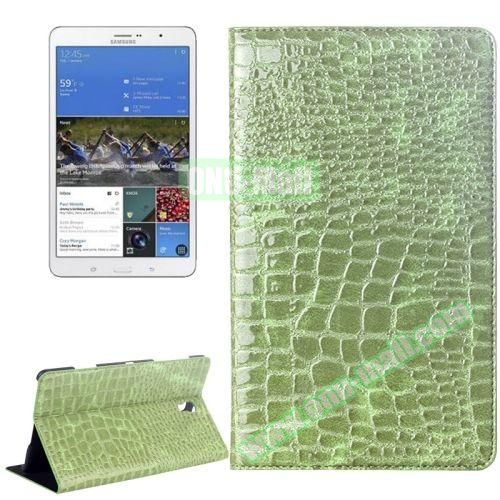 Crocodile Texture Flip Leather Case for Samsung Galaxy Tab S 8.4 T700 with Holder (Green)