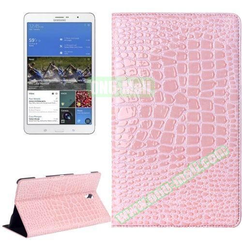 Crocodile Texture Flip Leather Case for Samsung Galaxy Tab S 8.4 T700 with Holder (Pink)
