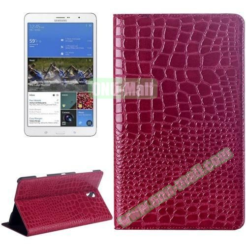 Crocodile Texture Flip Leather Case for Samsung Galaxy Tab S 8.4 T700 with Holder (Rose)