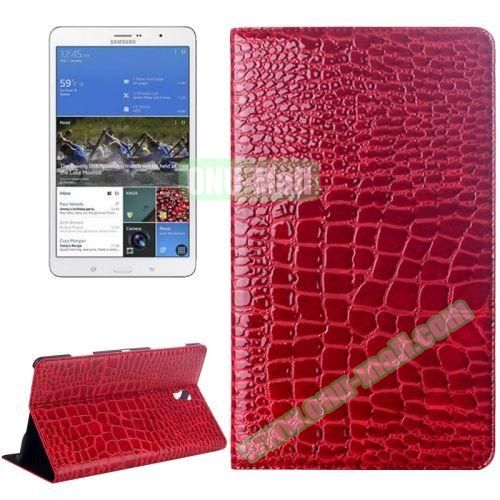 Crocodile Texture Flip Leather Case for Samsung Galaxy Tab S 8.4 T700 with Holder (Red)