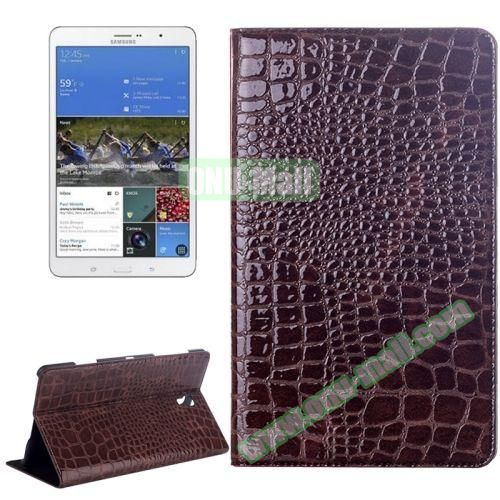 Crocodile Texture Flip Leather Case for Samsung Galaxy Tab S 8.4 T700 with Holder (Brown)