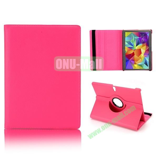 360 Degree Rotatable Litchi Texture Leather Case for Samsung Galaxy Tab S 10.5 T800 (Rose)