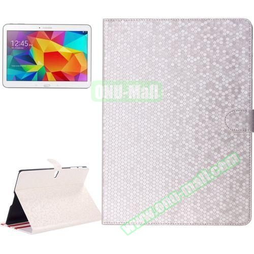 Honeycomb Texture Stand Style Leather Flip Cover for Samsung Galaxy Tab S 10.5 T800 (Silver)