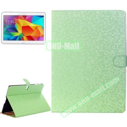 Honeycomb Texture Stand Style Leather Flip Cover for Samsung Galaxy Tab S 10.5 T800 (Green)