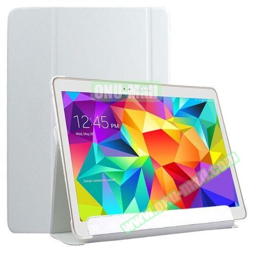 Slim Lattice Texture Flip Leather Case for Samsung Galaxy Tab S 10.5 T800 (White)
