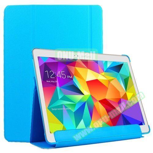 Slim Lattice Texture Flip Leather Case for Samsung Galaxy Tab S 10.5 T800 (Blue)