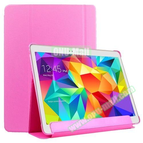 Slim Lattice Texture Flip Leather Case for Samsung Galaxy Tab S 10.5 T800 (Pink)