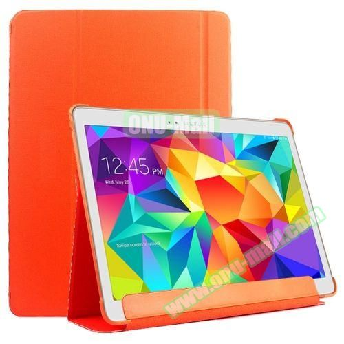 Slim Lattice Texture Flip Leather Case for Samsung Galaxy Tab S 10.5 T800 (Orange)