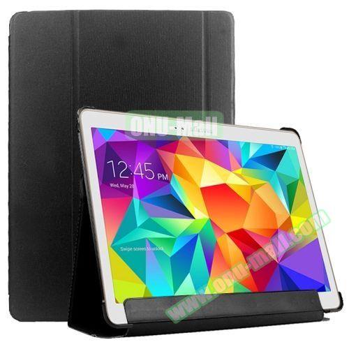Slim Lattice Texture Flip Leather Case for Samsung Galaxy Tab S 10.5 T800 (Black)