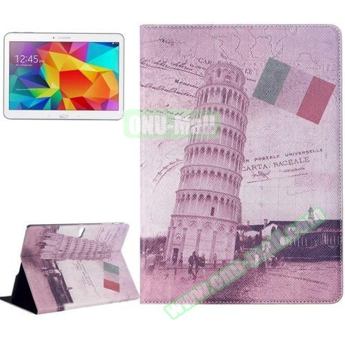 Places of Interest Design Flip Leather Case for Samsung Galaxy Tab S 10.5 T800 (The Leaning Tower of Pisa)
