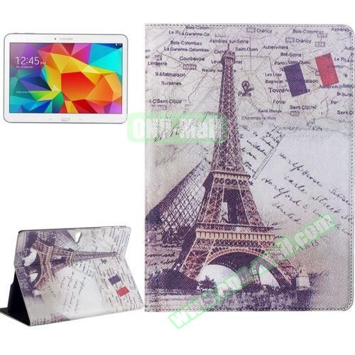 Places of Interest Design Flip Leather Case for Samsung Galaxy Tab S 10.5 T800 (Effiel Tower)