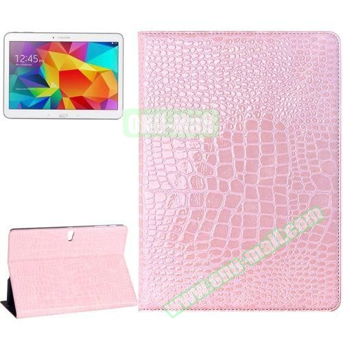 Crocodile Texture Flip Leather Case for Samsung Galaxy Tab S 10.5 T800 with Holder (Pink)