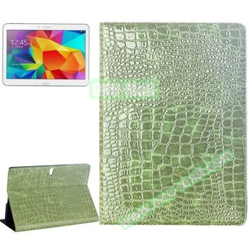 Crocodile Texture Flip Leather Case for Samsung Galaxy Tab S 10.5 T800 with Holder (Green)
