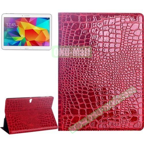 Crocodile Texture Flip Leather Case for Samsung Galaxy Tab S 10.5 T800 with Holder (Red)