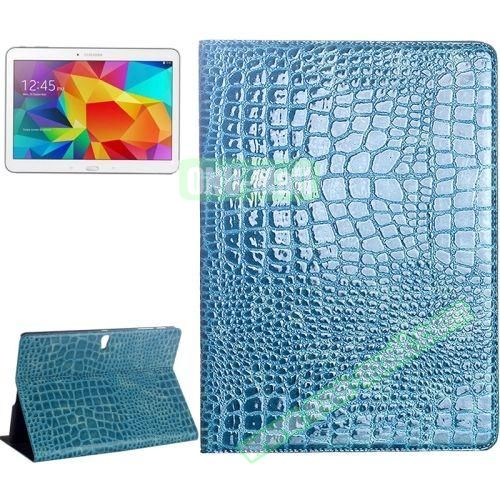 Crocodile Texture Flip Leather Case for Samsung Galaxy Tab S 10.5 T800 with Holder (Blue)