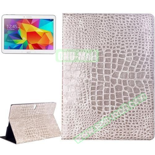 Crocodile Texture Flip Leather Case for Samsung Galaxy Tab S 10.5 T800 with Holder (Gray)