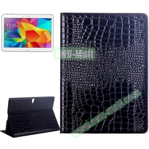 Crocodile Texture Flip Leather Case for Samsung Galaxy Tab S 10.5 T800 with Holder (Black)