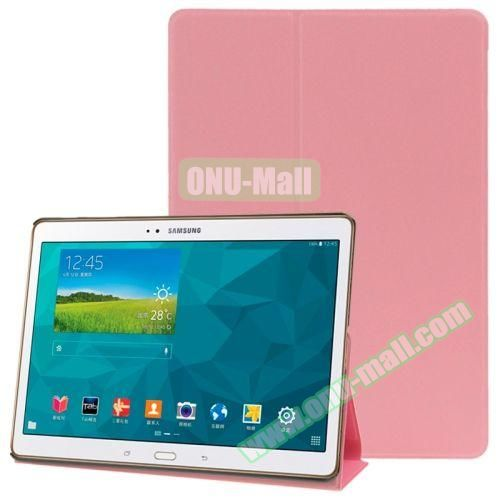 Frosted Texture Flip Leather Case for Samsung Galaxy Tab S 10.5 T800 with Holder (Pink)