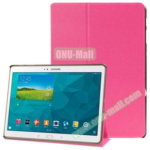 Frosted Texture Flip Leather Case for Samsung Galaxy Tab S 10.5 T800 with Holder (Rose)