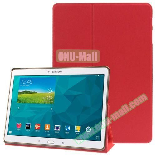 Frosted Texture Flip Leather Case for Samsung Galaxy Tab S 10.5 T800 with Holder (Red)