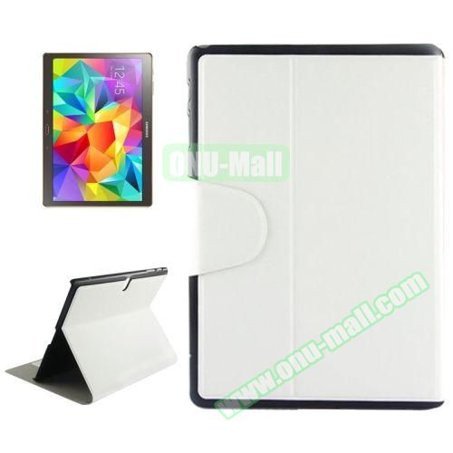 Oracle Texture Horizontal Flip Leather Case for Samsung Galaxy Tab S 10.5 T800 with Holder & Card Slots (White)