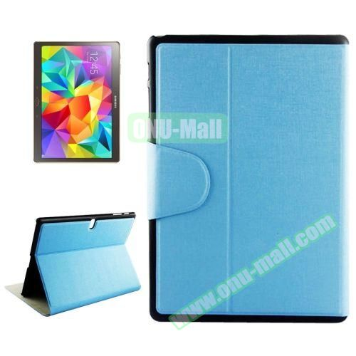 Oracle Texture Horizontal Flip Leather Case for Samsung Galaxy Tab S 10.5 T800 with Holder & Card Slots (Blue)