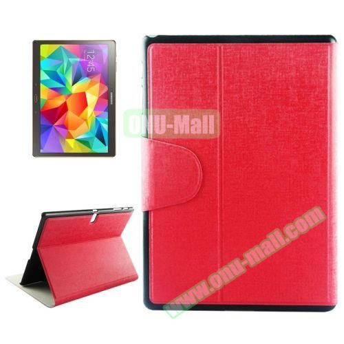 Oracle Texture Horizontal Flip Leather Case for Samsung Galaxy Tab S 10.5 T800 with Holder & Card Slots (Red)