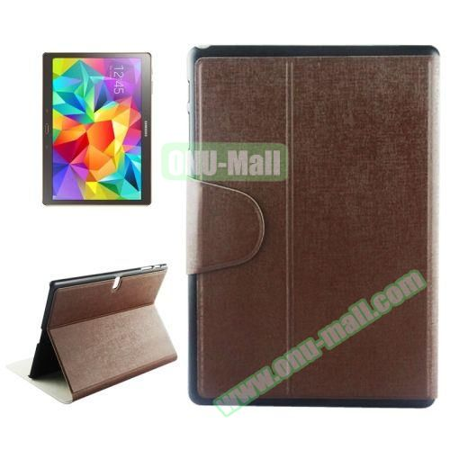 Oracle Texture Horizontal Flip Leather Case for Samsung Galaxy Tab S 10.5 T800 with Holder & Card Slots (Coffee)
