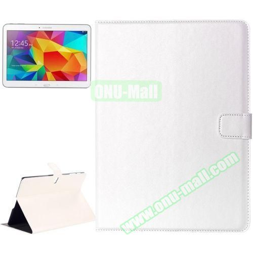 Crazy Horse Texture Flip Leather Case for Samsung Galaxy Tab S 10.5 T800 with Card Slots & Holder (White)