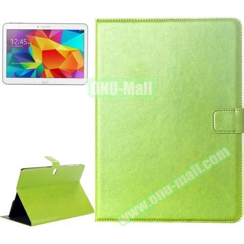 Crazy Horse Texture Flip Leather Case for Samsung Galaxy Tab S 10.5 T800 with Card Slots & Holder (Green)