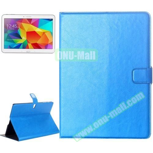 Crazy Horse Texture Flip Leather Case for Samsung Galaxy Tab S 10.5 T800 with Card Slots & Holder (Light Blue)