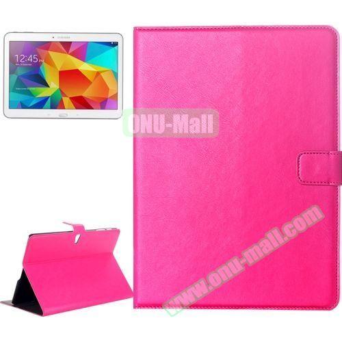 Crazy Horse Texture Flip Leather Case for Samsung Galaxy Tab S 10.5 T800 with Card Slots & Holder (Rose)