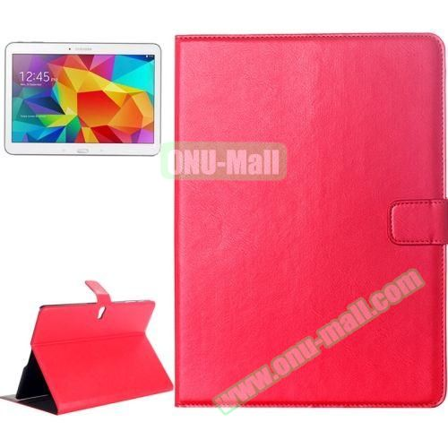 Crazy Horse Texture Flip Leather Case for Samsung Galaxy Tab S 10.5 T800 with Card Slots & Holder (Red)