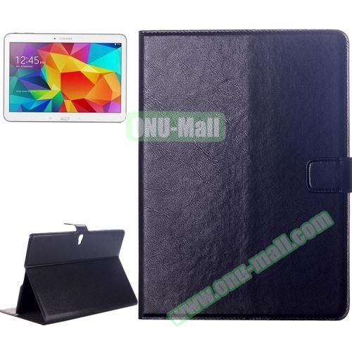 Crazy Horse Texture Flip Leather Case for Samsung Galaxy Tab S 10.5 T800 with Card Slots & Holder (Dark Blue)