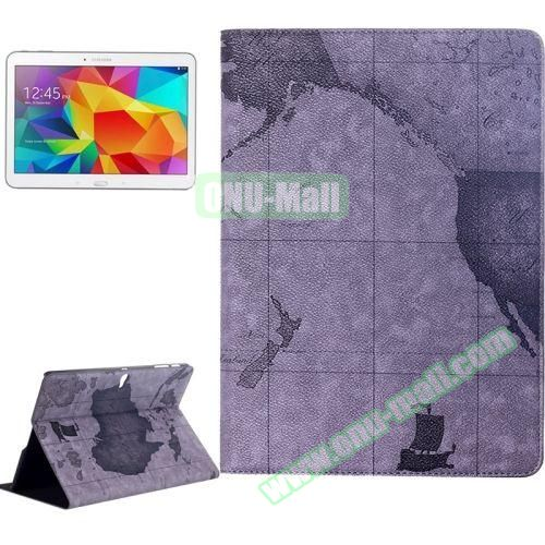 World Map Pattern Flip Leather Case for Samsung Galaxy Tab S 10.5 T800 with Holder (Grey)